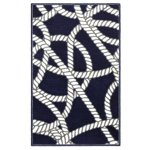 Affordable Belmar Nautical Navy/White Area Rug By Evolur