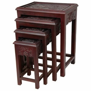 4 Piece Nesting Tables by Oriental Furniture