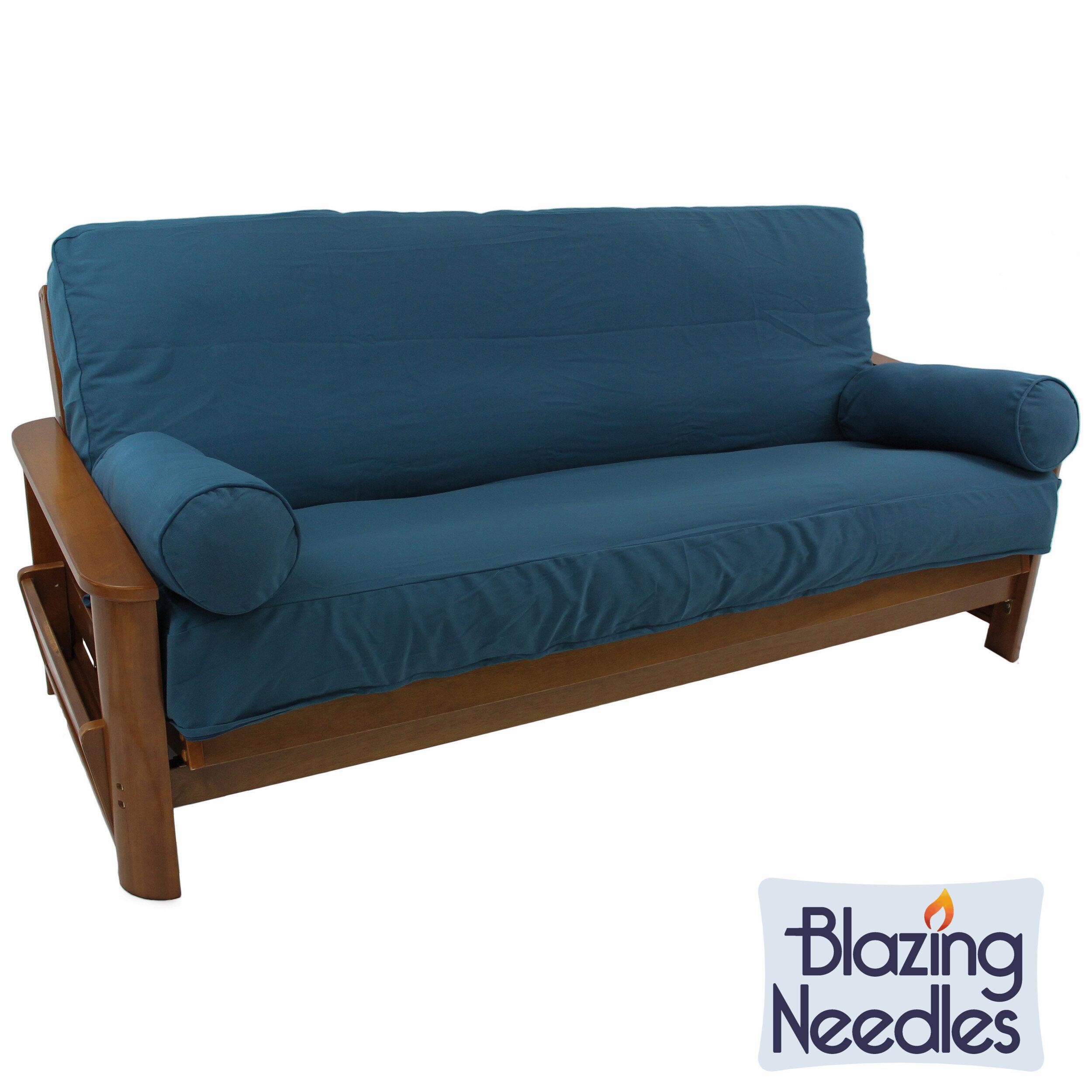 blazing needles premium box cushion futon slipcover set  u0026 reviews   wayfair blazing needles premium box cushion futon slipcover set  u0026 reviews      rh   wayfair
