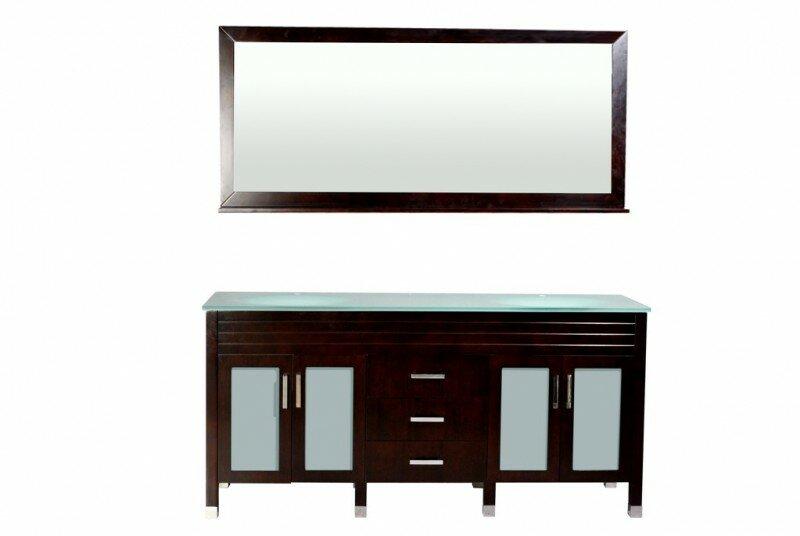 Belmont Decor Dayton 72 Double Bathroom Vanity Set With Mirror Reviews Wayfair
