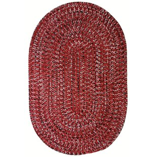 Affordable Aarush Hand-Braided Red/White Indoor/Outdoor Area Rug By Highland Dunes