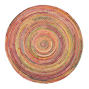 Petrolia Handmade Pink/Yellow/Green Area Rug by Blue Elephant