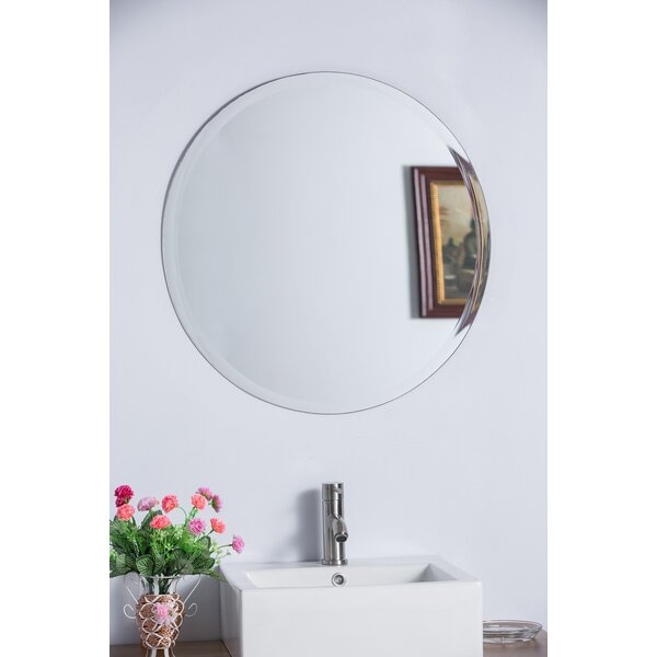 Bellaterra Home Round Frameless Bathroom/Vanity Wall Mirror U0026 Reviews |  Wayfair