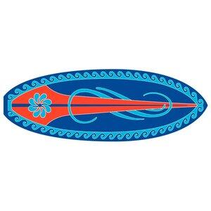 Surf Time Huntington Surf Blue/Red Area Rug