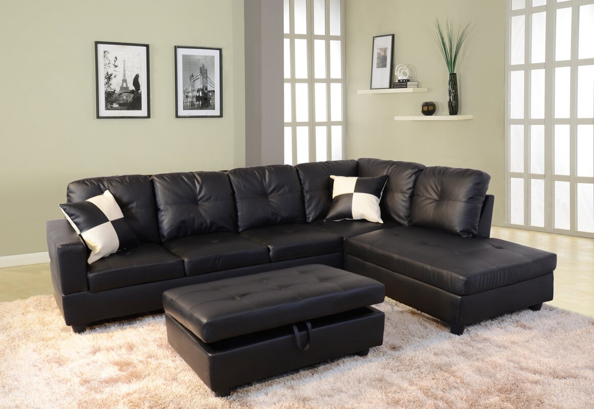 Andover Mills Russ Sectional With Ottoman Amp Reviews