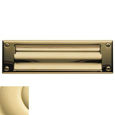 Baldwin 10 in x 3 Brass Mail Slot Color: Unlacquered Brass