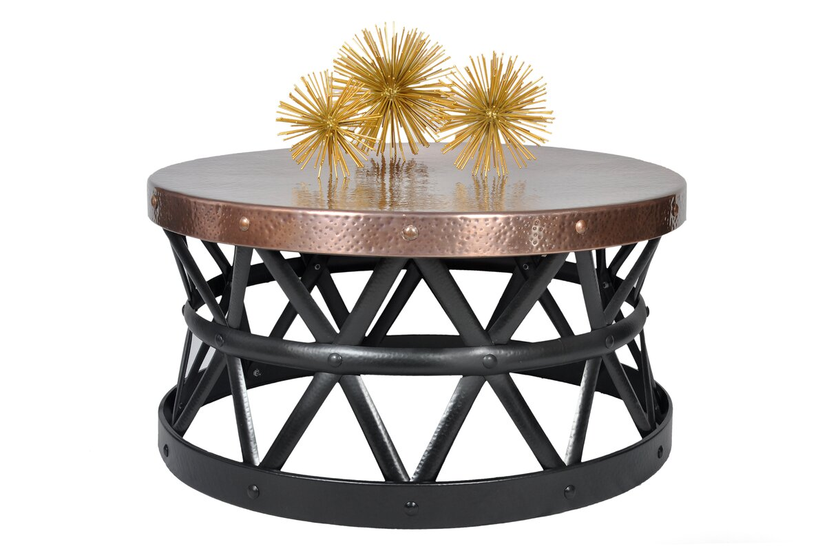 Fashion N You Drum Hammered Coffee Table Reviews Wayfair