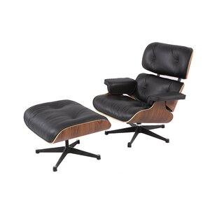 Emilio Swivel Lounge Chair And Ottoman