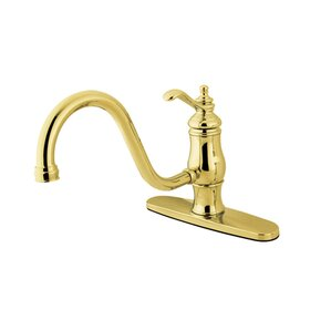 Elements of Design New Orleans One Handle Centerset Kitchen Faucet