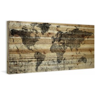 Rustic Wooden Map Wall Art You\'ll Love | Wayfair