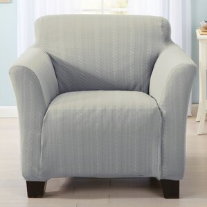 Darla Box Cushion Armchair Slipcover by Home Fashion Designs