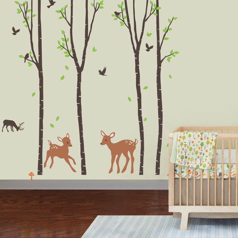 Tranquil Woodland Nursery Wall Decal