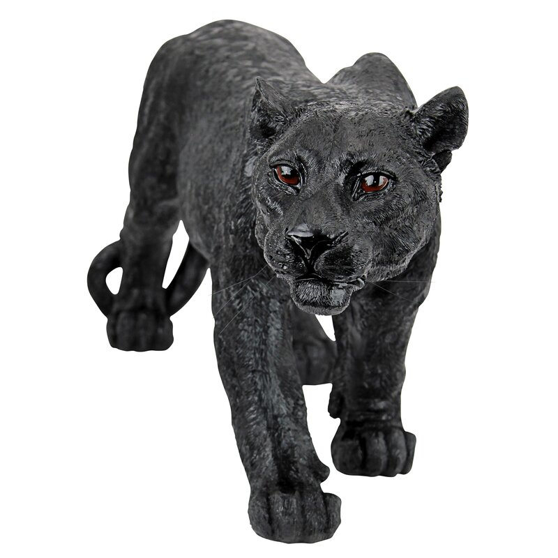 Design Toscano Shadowed Predator Black Panther Statue