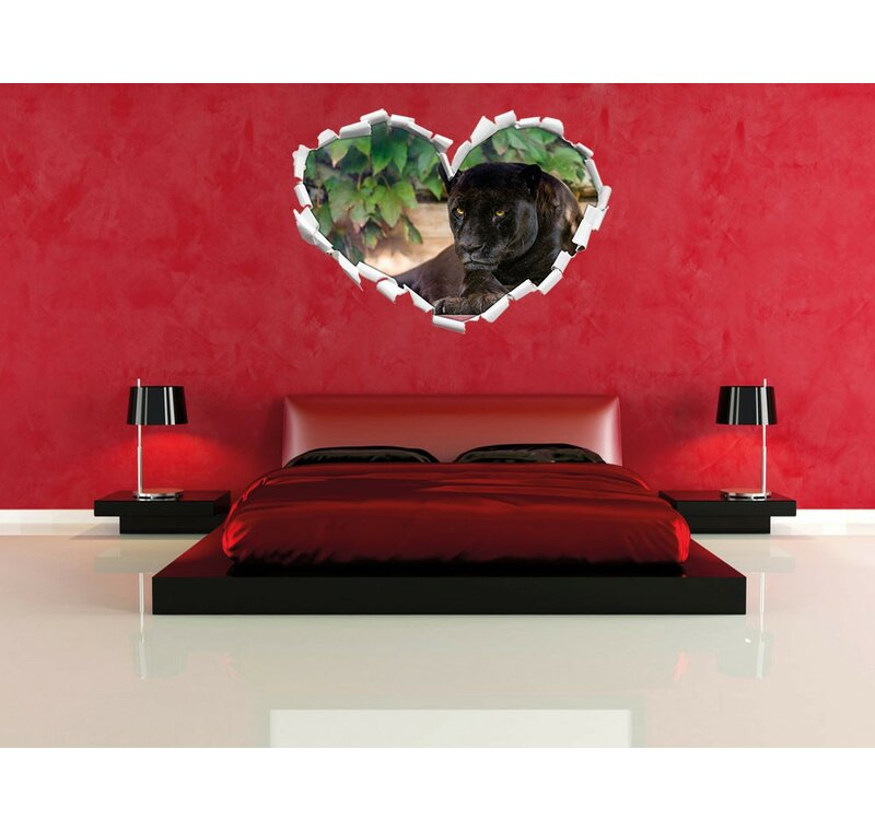 Sch Ner Wohnen Wohnzimmer home loft concept wandtattoo schöner schwarzer panther wayfair de