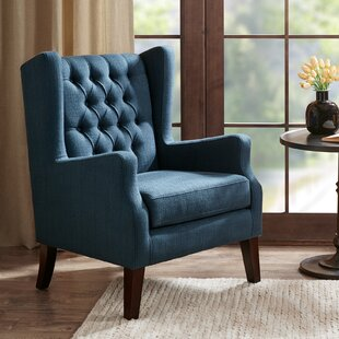 Allis Button Tufted Wingback Chair