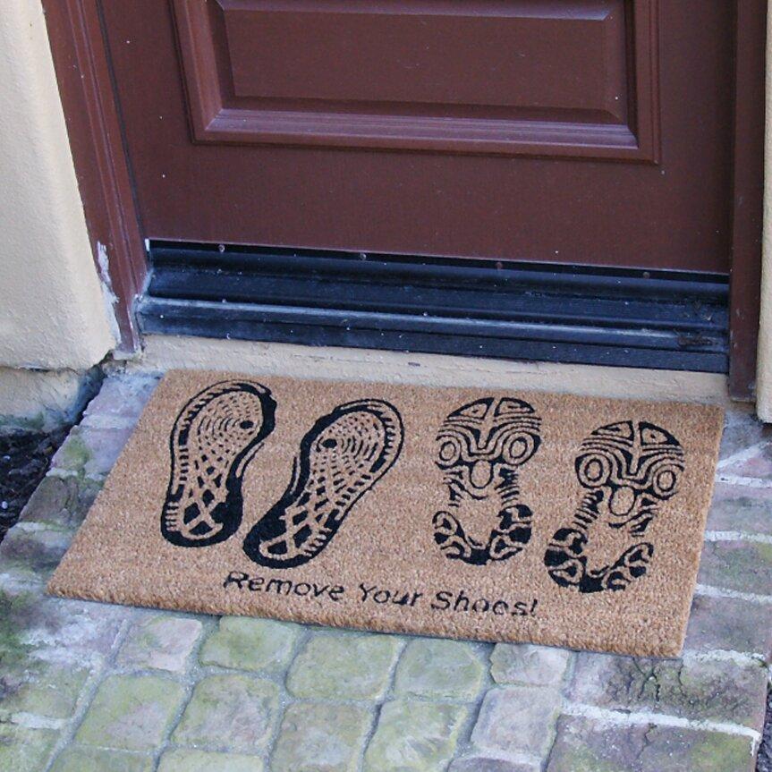Rubber cal inc remove your shoes doormat reviews wayfair - Remove shoes doormat ...