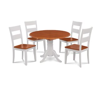 Forthill Wood 5 Piece Dining Set by Alcott Hill