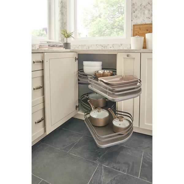 Blind Corner Kitchen Cabinet Ideas: Rev-A-Shelf Right-Handed 2 Tier Blind Corner Cabinet
