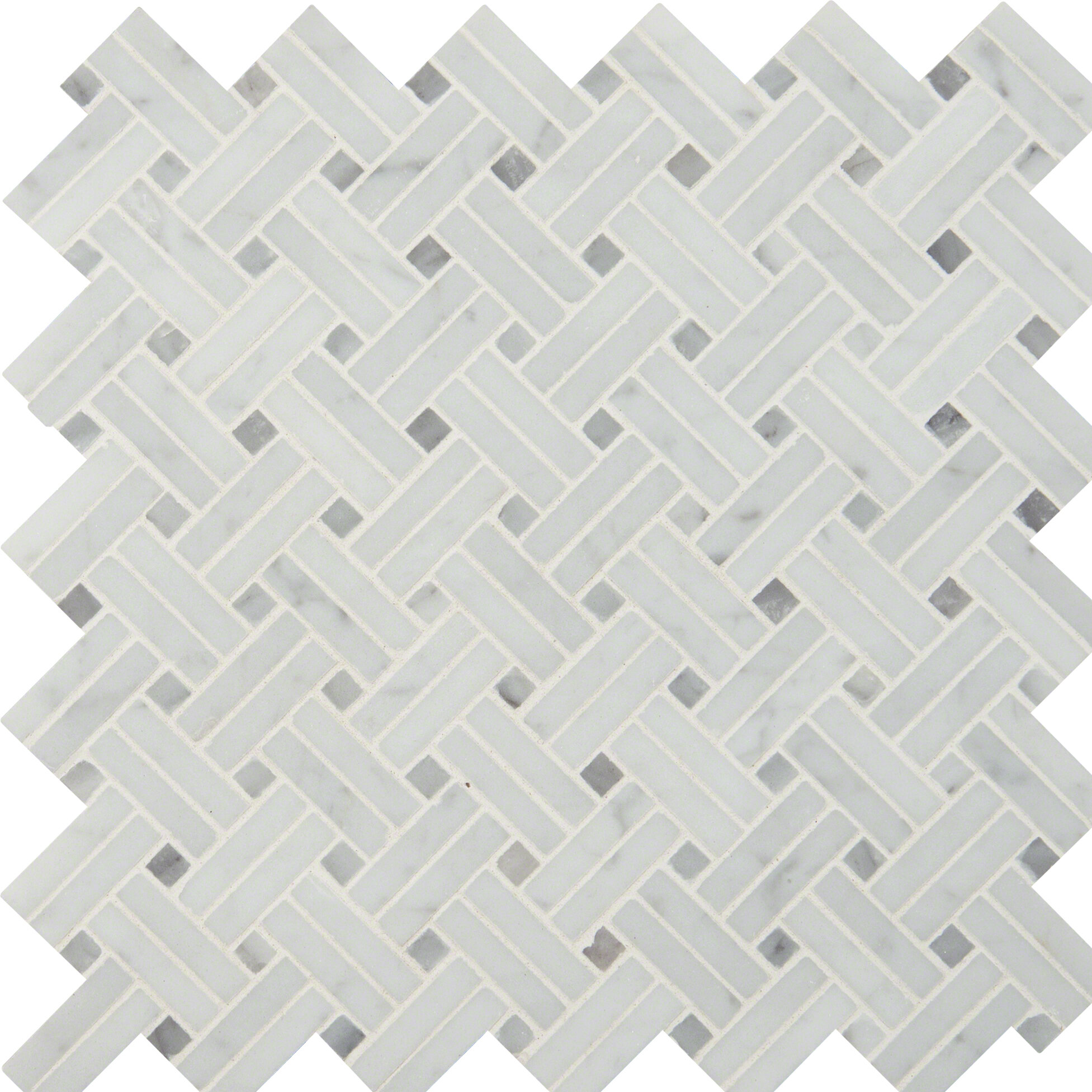 MSI Basketweave Polished Marble Mosaic Tile in White | Wayfair