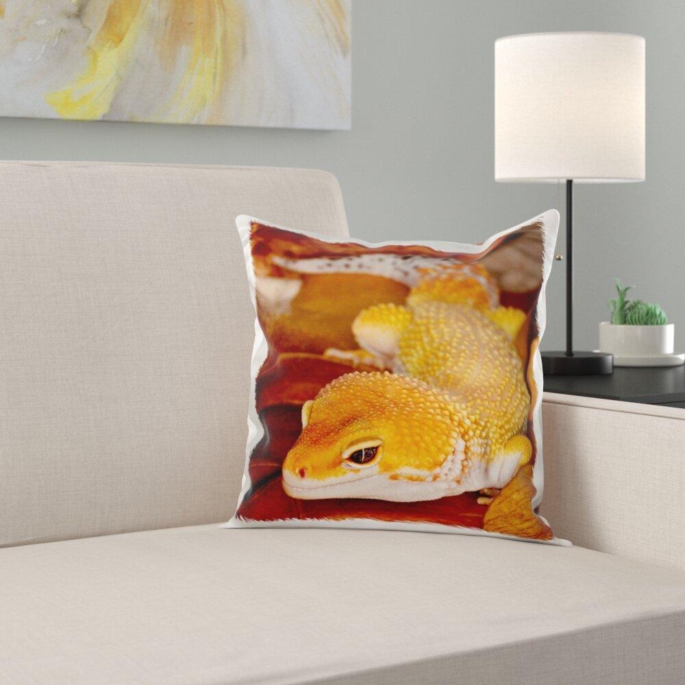Leopard Gecko Morph, Lizard, Pakistan Pillow Cover