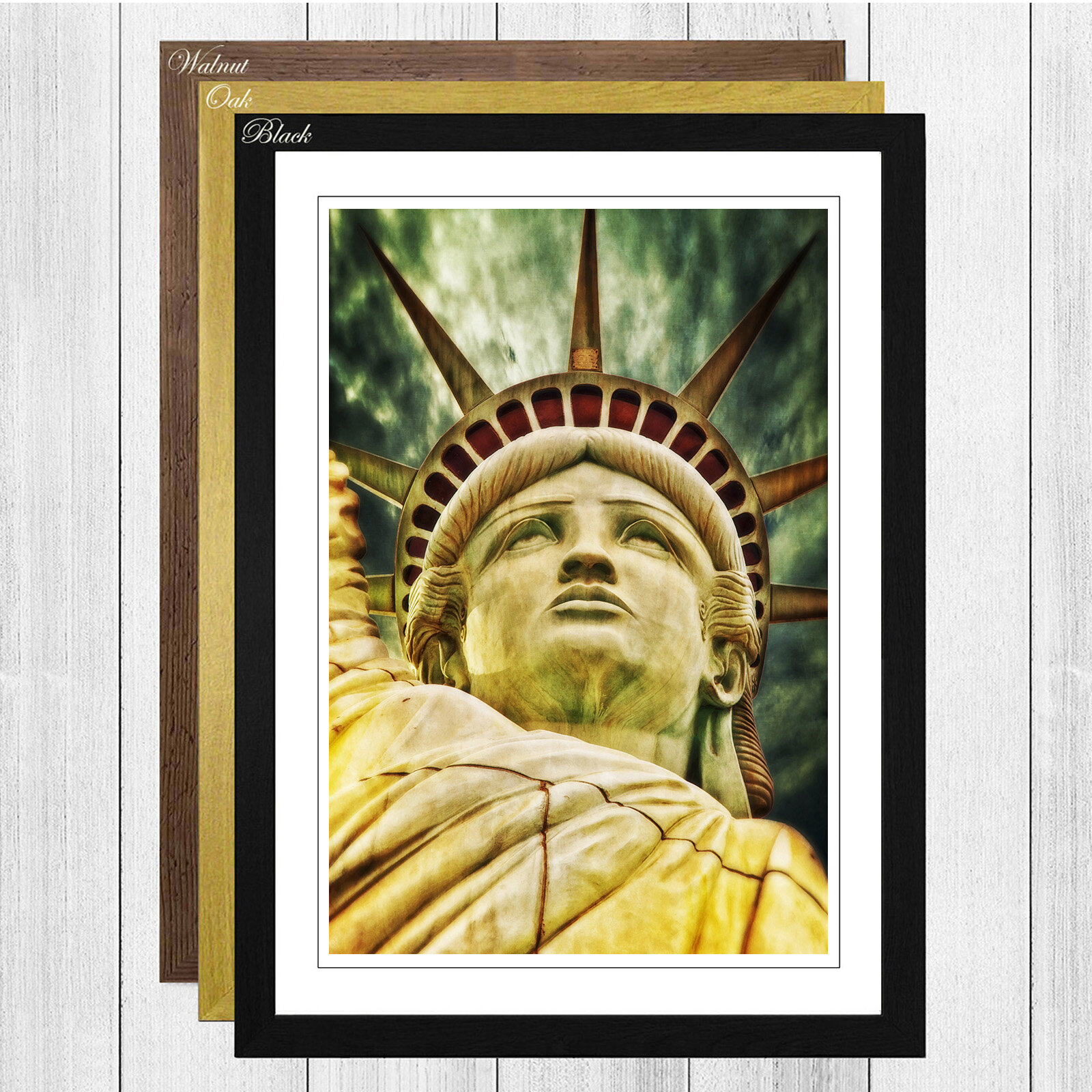 Big Box Art \'Statue of Liberty New York USA City 8\' Framed Wall Art ...