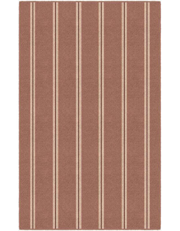 Highland Dunes Iyanna Traditional Vertical Striped Brown Area Rug, Size: Rectangle 76 x 10