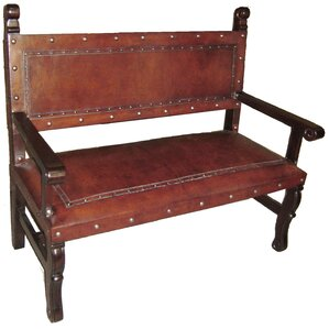 Spanish Heritage Leather Bench