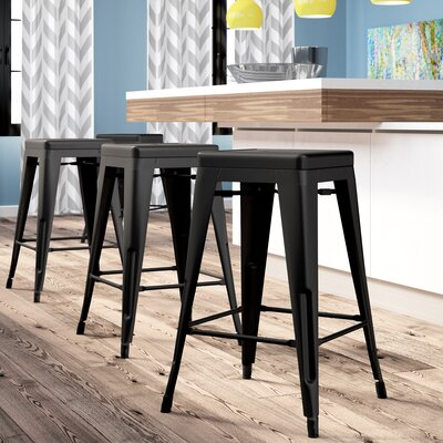 Backless Modern Amp Contemporary Counter Height Bar Stools