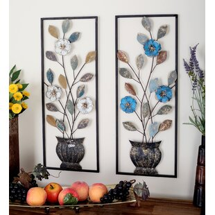 Beige Blue Metal Wall Art You Ll Love Wayfair