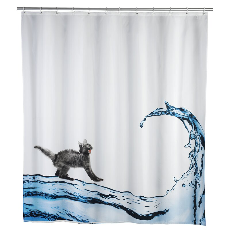 Wenko Inc Cat Anti-mold Shower Curtain & Reviews | Wayfair