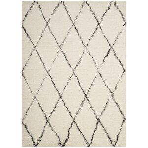 Erica Hand-Tufted Wool Ivory Area Rug