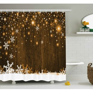 Barker Wood And Snowflakes Shower Curtain