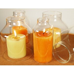 4 Piece Glass Hurricane Shade Candle Holders (Set of 4)