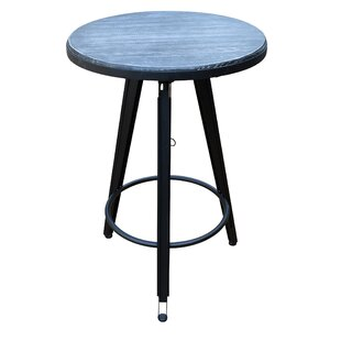 Dortch Adjustable Height Swivel Pub Table