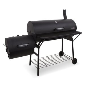 American Gourmet Deluxe Offset Charcoal Smoker & Grill