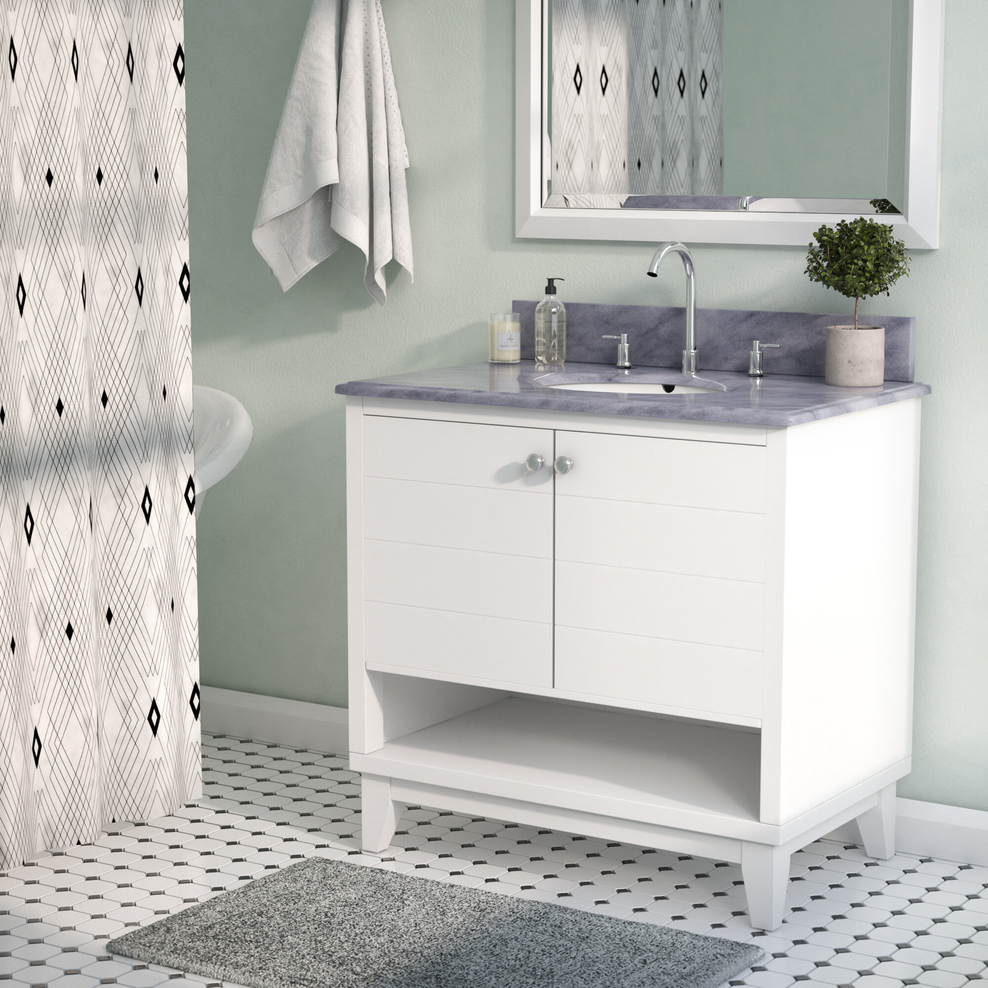 Brilliant Holtman 34 Single Sink Bathroom Vanity Set With Marble Top Download Free Architecture Designs Pushbritishbridgeorg