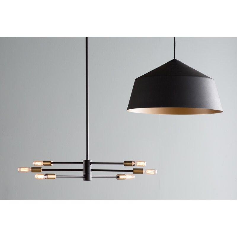 Trent Austin Design Whaleback 6 Light Geometric Pendant