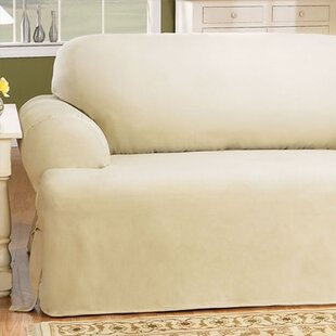 Cotton Duck T Cushion Sofa Slipcover