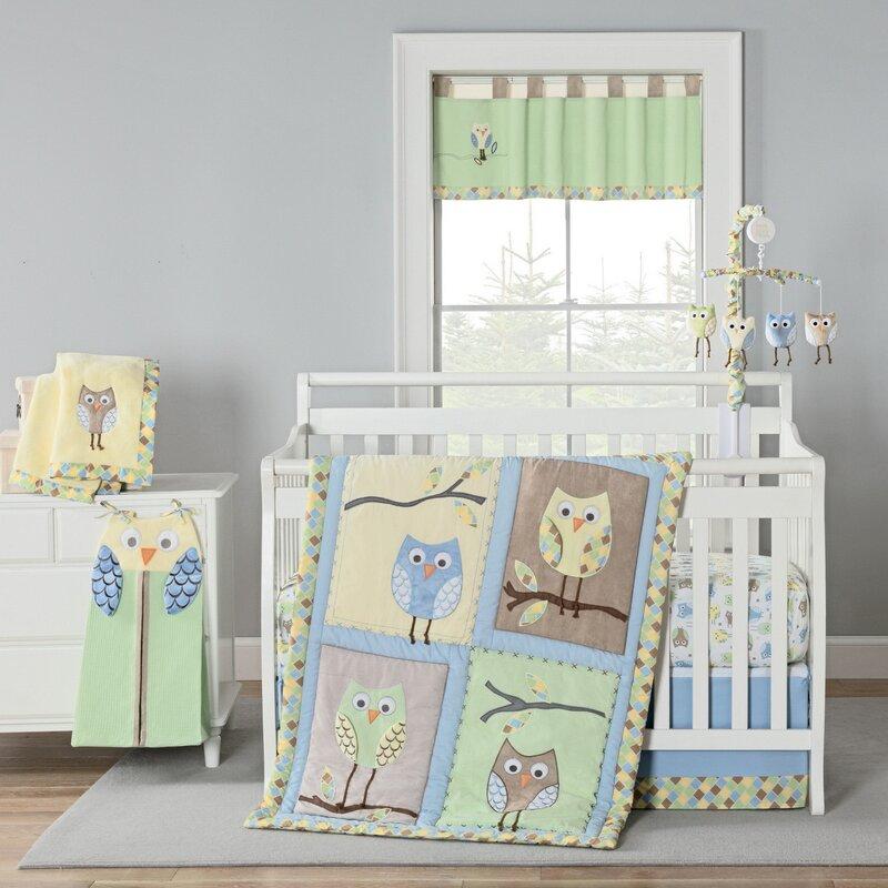 Kraig Owls Crib Bedding Set