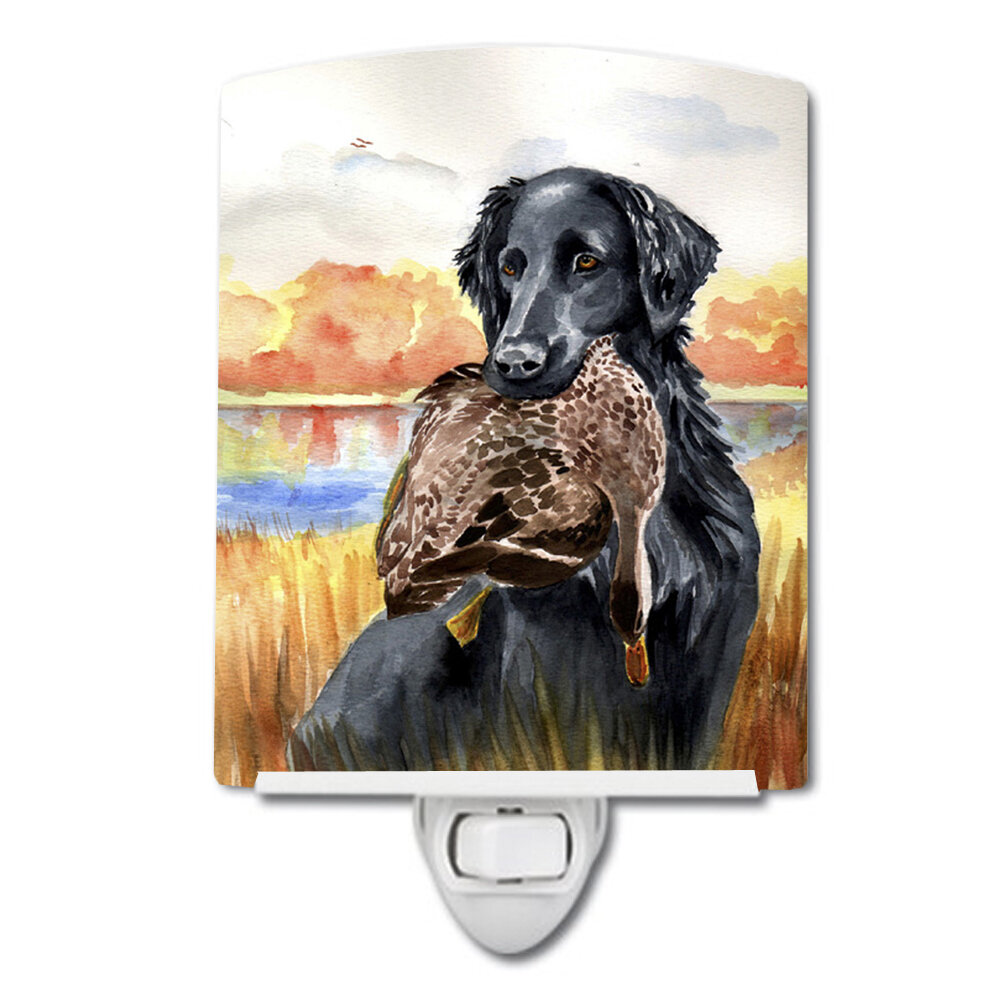 Flat Coated Retriever Ceramic Night Light
