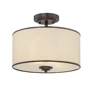 Laurie 2-Light Semi Flush Mount