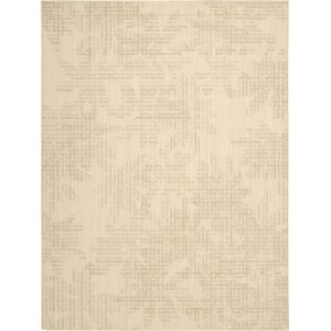 Urban Linen Flower Biscuit Area Rug