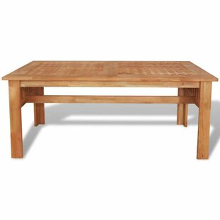 Leyva Solid Walnut Wood Coffee Table