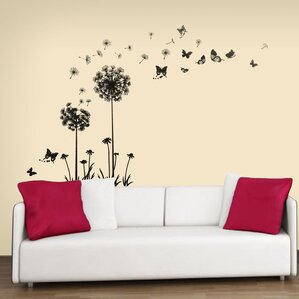 Transparent Dandelion Wall Decal