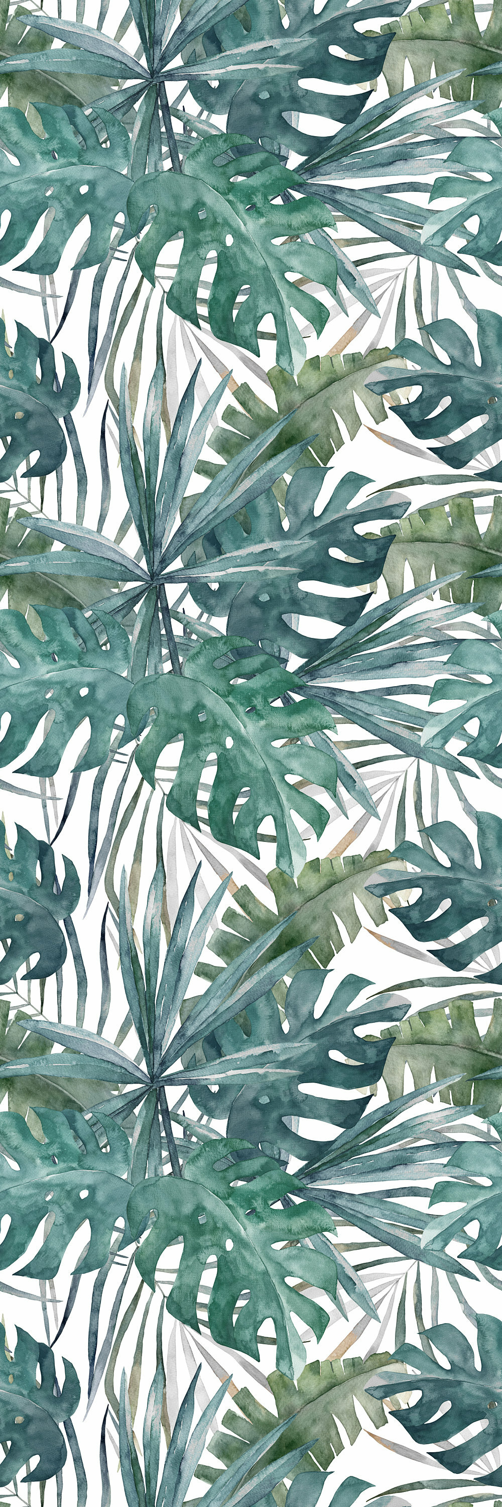 Bay Isle Home Zepeda Removable Vintage Green Palm Leaves 417 L X 25 W Peel And Stick Wallpaper Roll