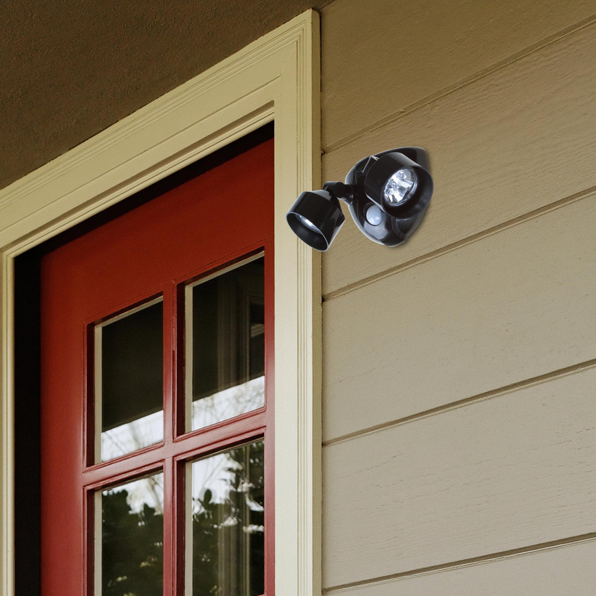 Everyday Home Led Outdoor Security Flood Light With Motion Sensor Reviews Wayfair