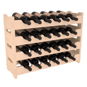 Karnes Pine Mini Scalloped 24 Bottle Tabletop Wine Rack