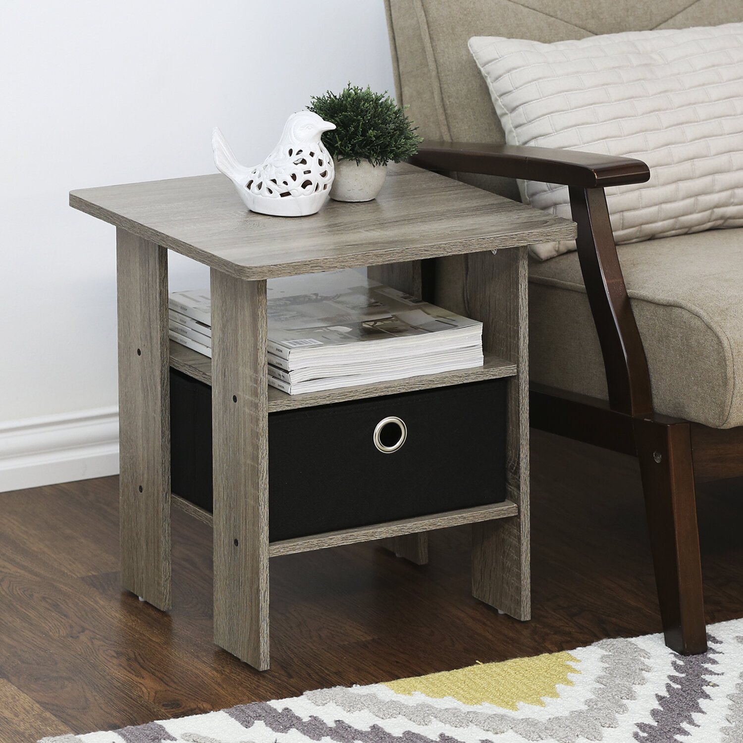 Andover Mills Joseph End Table With Storage U0026 Reviews | Wayfair