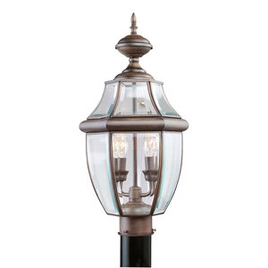 Gullette Imperial Bronze Outdoor Post Lantern