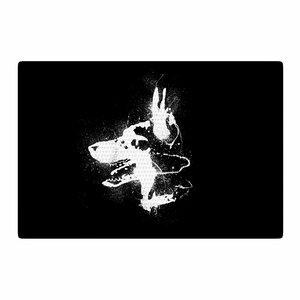 Barmalisirtb Watchdog Black/White Area Rug